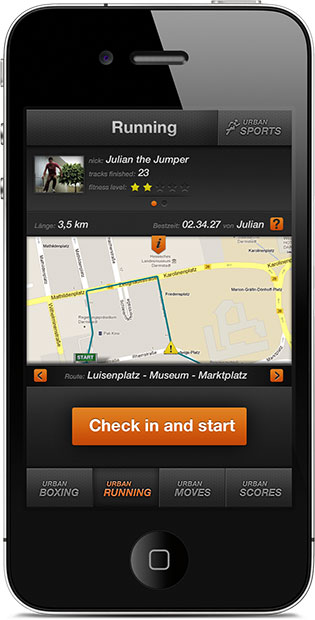 Urban Running - User Infos